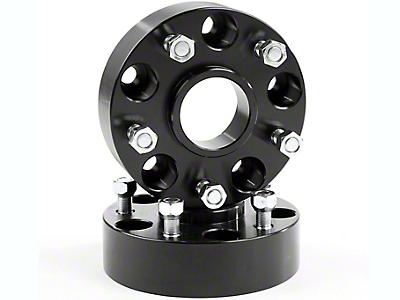 Rugged Ridge Wheel Spacers, Black, 1.75-Inch (07-17 Wrangler JK)
