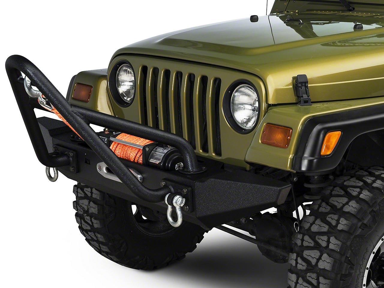 Rugged Ridge XHD Front Bumper Kit w/Stinger Bar & Standard Bumper Ends (87-06 Wrangler TJ & YJ)