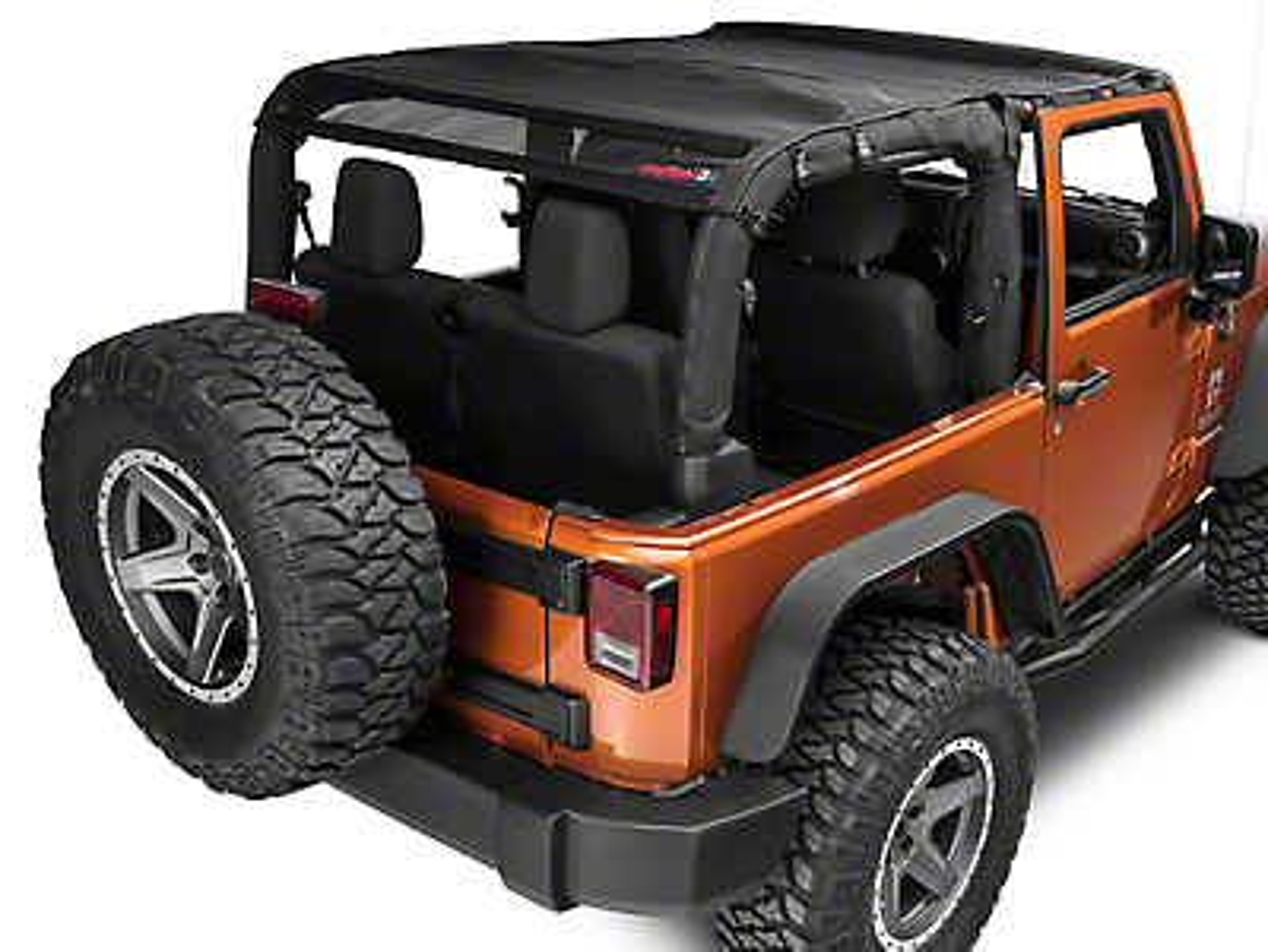 Jeep Tops USA Safari Mesh - Black (07-16 Wrangler JK 2 Door)