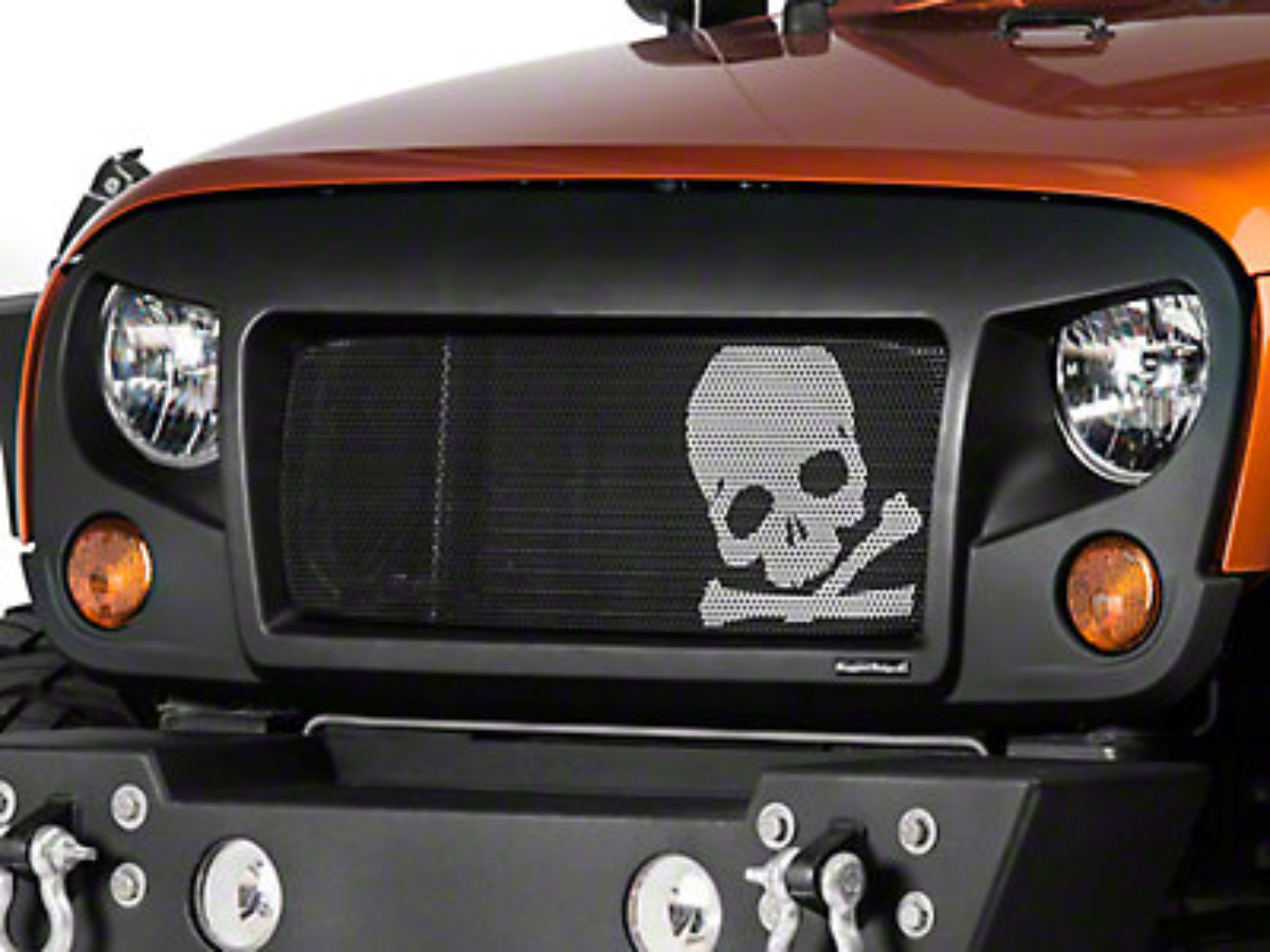 Rugged Ridge Wrangler Spartan Grille Kit w/ Skull Insert ...