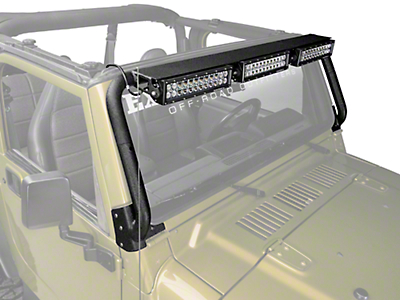 Rugged Ridge Windshield Light Bar Kit (97-06 Wrangler TJ)