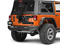 RedRock 4x4 Rear Hinged Wrangler Tire Carrier w/Tire Mount ...