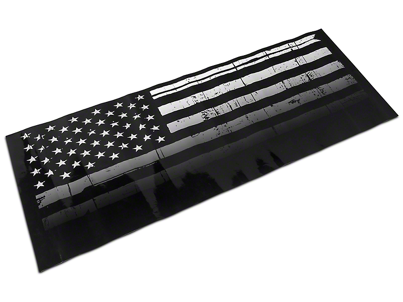 Jeepgrillz Distressed American Flag Grille Overlay Decal (07-17 Wrangler JK)