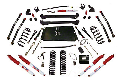 SkyJacker 6 in. Bent Long Arm Suspension System w/ Shocks (97-06 Wrangler TJ)