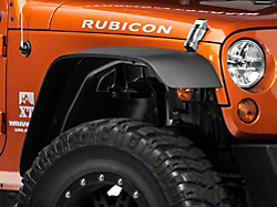 Rugged Ridge A T Wrangler Flat Fender Flare Kit 4 Piece