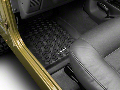 Rugged Ridge All Terrain Floor Liner - Front Pair, Black (97-06 Wrangler TJ)