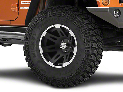 Rugged Ridge Aluminum Wheel, 17x9, Satin Black Machined, 5x5 (07-13 Wrangler JK)