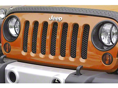 Rugged Ridge Billet Grille Insert Screen, Gloss Black (07-13 Wrangler JK)