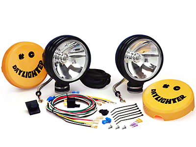 KC Hilites Daylighter Lights, Long Range, Black (87-16 Wrangler YJ, TJ & JK)