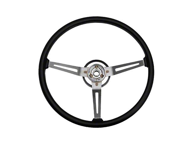 Omix-ADA Wrangler Sport Steering Wheel w/ 3 Metal Spoke