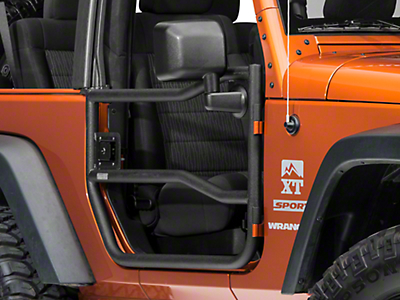 Rugged Ridge Black Textured Front Tube Doors - Pair (07-16 Wrangler JK)
