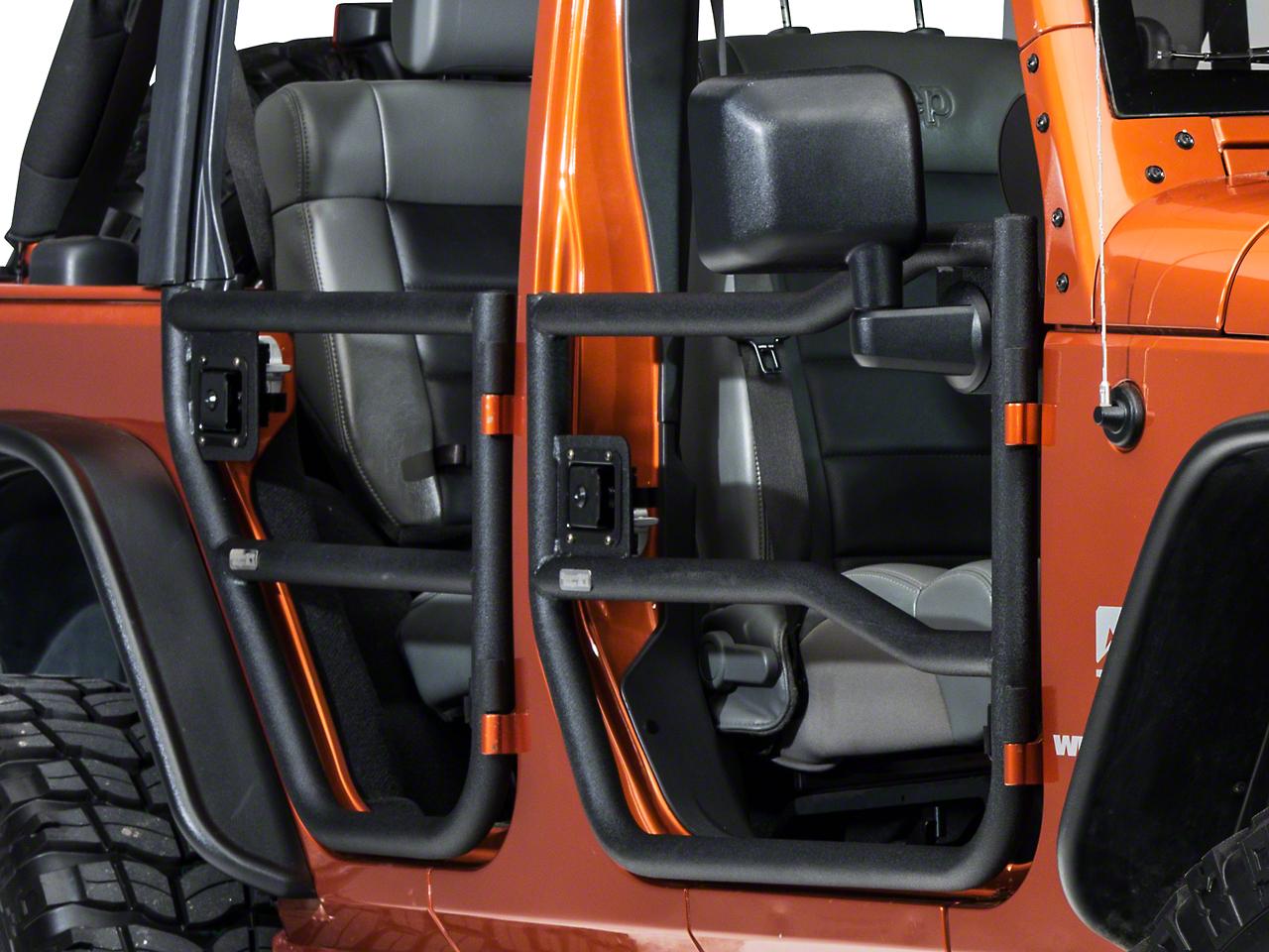 Rugged Ridge Black Textured Rear Wrangler Tube Doors