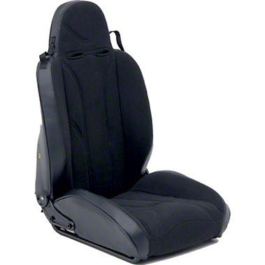 Passenger Side XRC Racing Style Recliner Seat, Black (87-06 Wrangler
