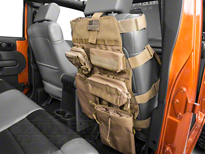 Smittybilt G.E.A.R. Front Seat Cover, Coyote Tan (87-17 Wrangler YJ, TJ & JK)