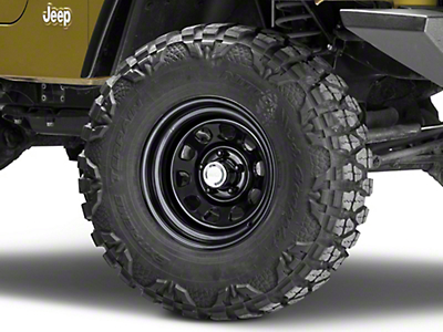 Rugged Ridge D-Window Black Steel Wheel 15x8 (87-06 Wrangler YJ & TJ)