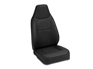 Bestop Front Trailmax High-Back Fixed Position Bucket Seat, Black (87-02 Wrangler YJ & TJ)