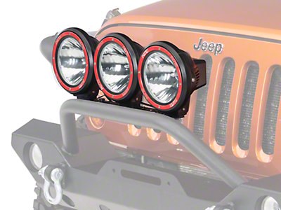 rugged ridge wrangler 3 hid offroad fog lights black 7. Black Bedroom Furniture Sets. Home Design Ideas