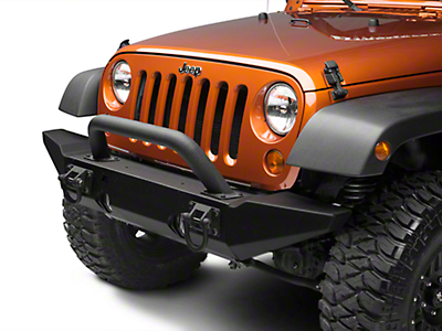 Rugged Ridge Hoop Over Rider Black Textured for Xtreme Heavy Duty Bumper (87-17 Wrangler YJ, TJ & JK)