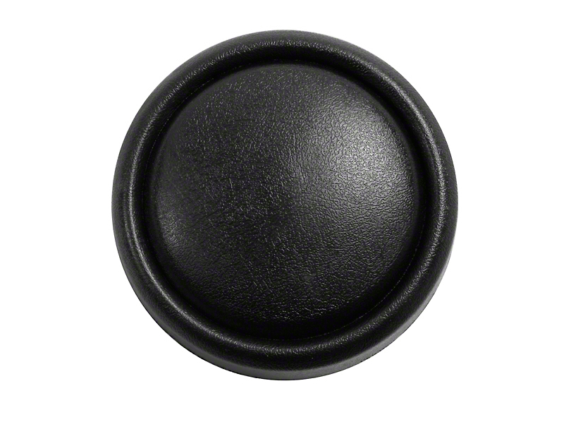 Omix-ADA Horn Button Cap on Steering Wheel - Black (87-95 Wrangler YJ)