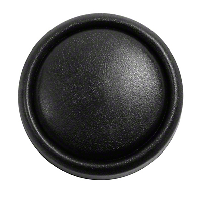 Omix-ADA Horn Button Cap on Steering Wheel - Black (87-96 Wrangler YJ)