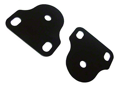 Rugged Ridge Inside Windshield Brackets, Black (87-95 Wrangler YJ)