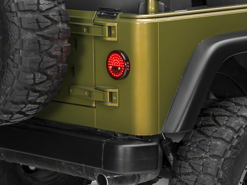 wrangler litedots led tail lights 87 06 wrangler yj tj. Black Bedroom Furniture Sets. Home Design Ideas