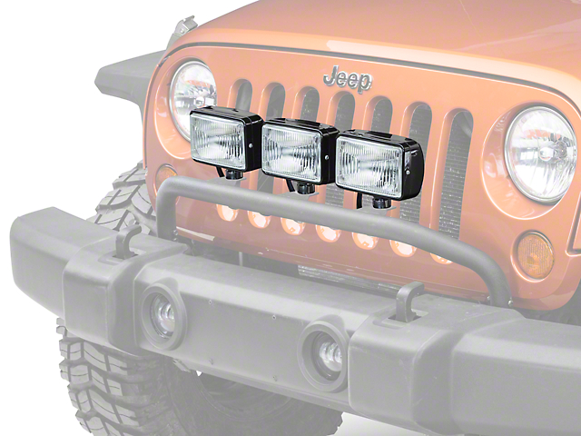 Jeep Jk Fog Light Wiring Harness : Rugged ridge wrangler halogen fog lights black in