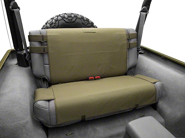 Smittybilt Wrangler GEAR Rear Seat Cover Olive Drab