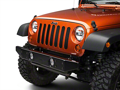 Olympic 4x4 Front Rock Bumper No Hitch, Gloss Black (07-14 Wrangler JK