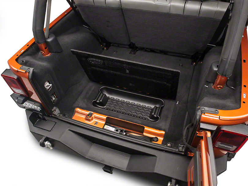 Rugged Ridge Wrangler Rear Cargo Area Storage Bin 13122 01