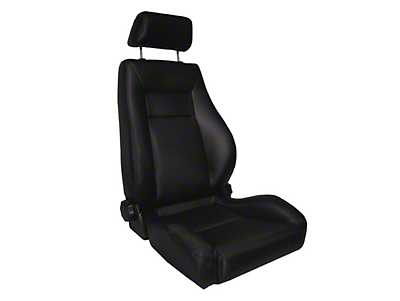 Rugged Ridge Reclining Front Super Seat w/ Headrest, Black Vinyl (87-02 Wrangler YJ & TJ)
