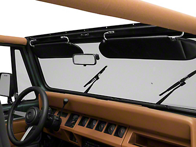 Rugged Ridge Replacement Sun Visor Pair, Black Vinyl (87-95 Wrangler YJ)