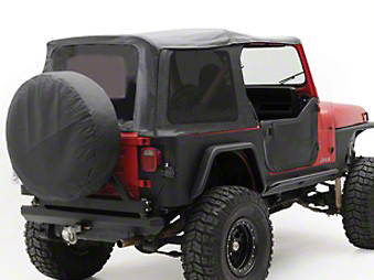 Smittybilt Replacement Top w/Upper Door Skins, Black Denim (87-95 Wrangler YJ)