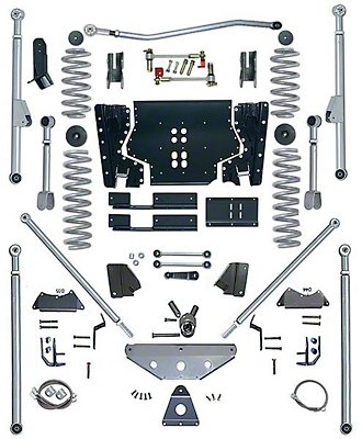 Rubicon Express 4.5 in. Tri-Link Long Arm Lift Kit (04-06 Wrangler TJ Unlimited)