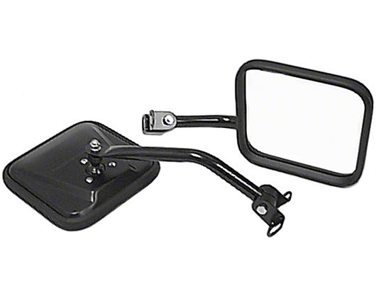 Rugged Ridge Black Mirror Kit (87-95 Wrangler YJ)