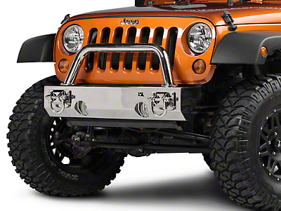 Rugged Ridge Hoop Over Rider Stainless for Xtreme Heavy Duty Bumper (87-17 Wrangler YJ, TJ & JK)