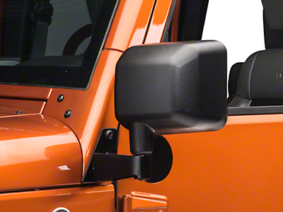 Rugged Ridge Wrangler Mirror Relocation Bracket Black