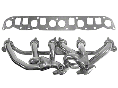 Rugged Ridge Polished 304 Stainless Steel Exhaust Header 4.0L (00-06 Wrangler TJ)