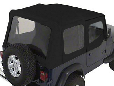 Rugged Ridge Soft Top w/Tinted Windows & Door Skins, Black Denim (88-95 Wrangler YJ)