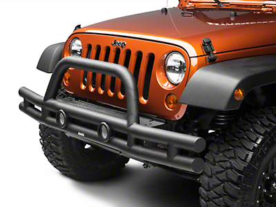 Rugged Ridge Tube Front Bumper, Textured Black (07-13 Wrangler JK)