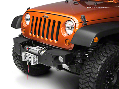 Rough Country Modular Front Winch Plate Bumper (07-13 Wrangler JK)