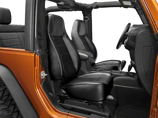 smittybilt wrangler seat front factory style replacement w recliner vinyl black 45001 87. Black Bedroom Furniture Sets. Home Design Ideas
