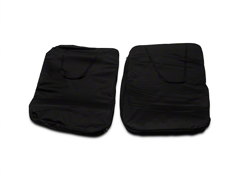 Smittybilt Storage Bag - Hard Doors - Pair - Black (07-17 Wrangler JK)