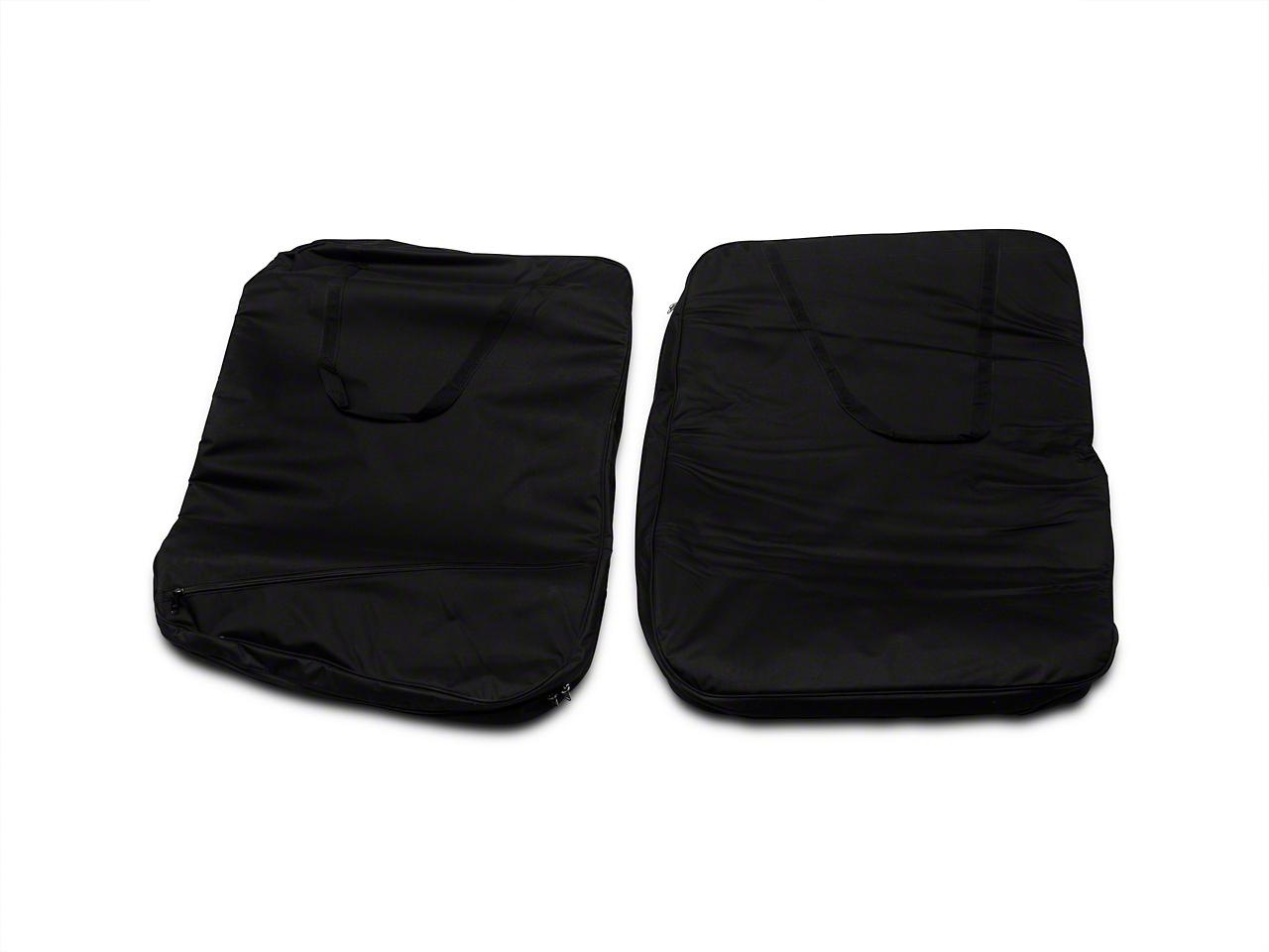 Smittybilt Storage Bag - Hard Doors - Pair - Black (07-15 Wrangler JK)