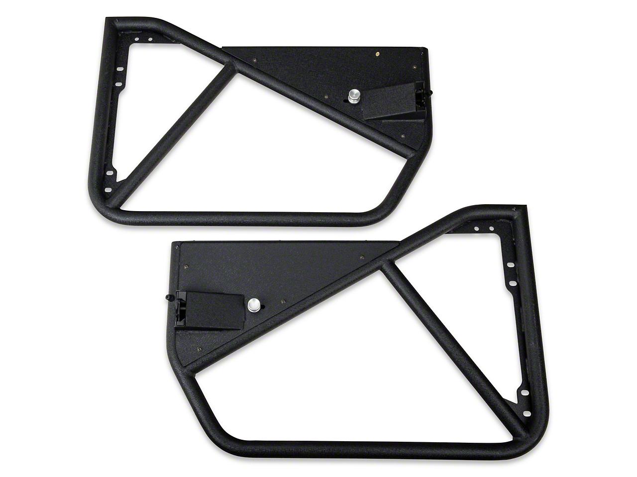 Smittybilt SRC Tubular Doors - Front - Black Textured (07-17 Wrangler JK)