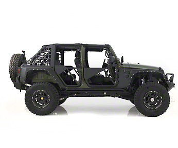 Smittybilt SRC Tubular Doors - Rear - Black Textured (07-16 Wrangler JK)
