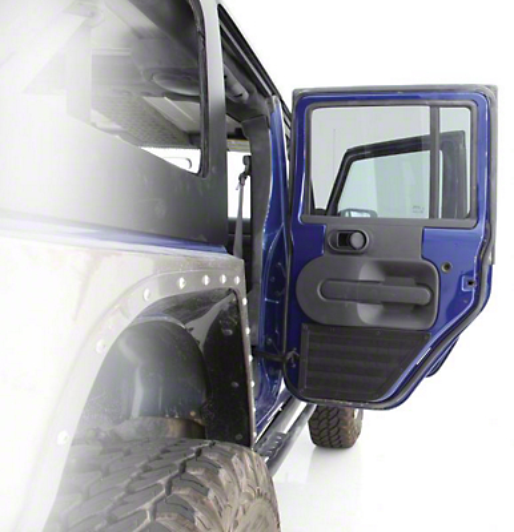 Smittybilt GEAR Door Panel - Rear - Pair - Black (07-16 Wrangler JK 4 Door)
