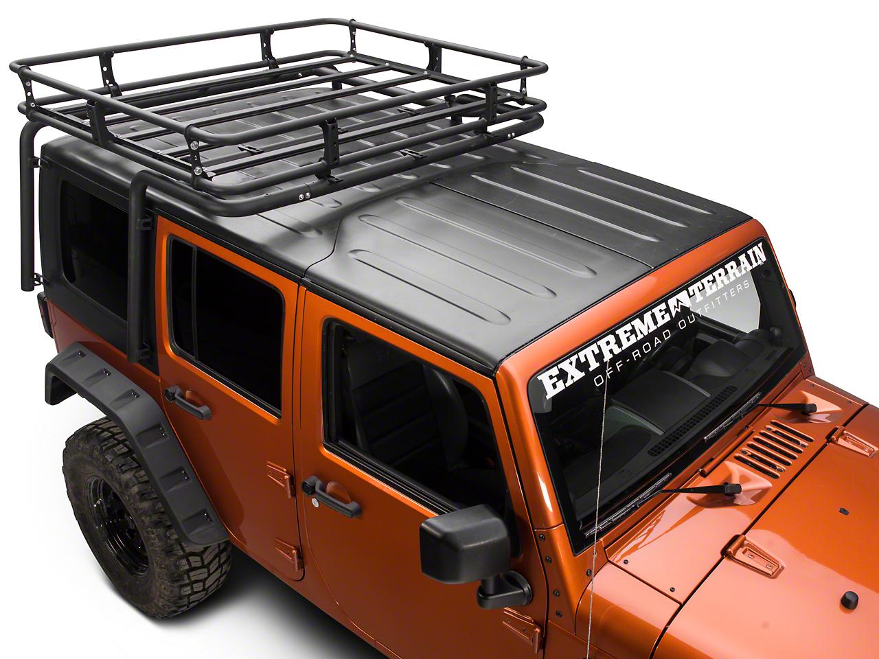 Off Camber Fabrications by MBRP Cargo Basket Kit, Black Coated (07-10 Wrangler JK 4 Door)