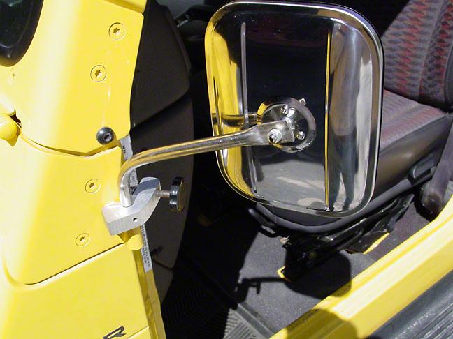 Lange Mirror I, Silver (97-06 Wrangler TJ)