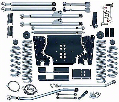 Rubicon Express 4.5 in. Extreme-Duty Long Arm Lift Kit w/o Shocks (03-06 Wrangler TJ)